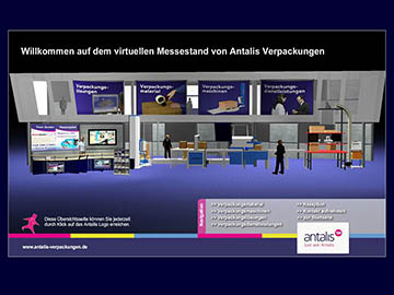 Virtueller Messestand, Flash, Html, Bildergalierie, Prospektständer, Rezeption, 3D Modelle